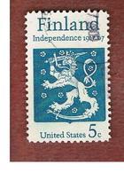 STATI UNITI (U.S.A.) - SG 1314    - 1967  FINNISH INDEPENDENCE  - USED° - Stati Uniti