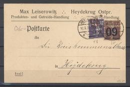 Memel, Gelaufene Postkarte 1922 Mit MiF Aus Heydekrug (26039) - Memel (Klaïpeda)