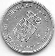 Belgian Congo Ruanda-urundi 50 Centimes 1955  Km  2  Xf - 1951-1960: Baldovino I