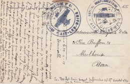 FRANCE 1919 CARTE POSTALE DE HOPITAL AIX LES BAINS - Postmark Collection (Covers)