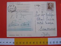 E.02 ITALIA SAVOIA UMBERTO II ESILIO CASCAIS PORTOGALLO VIAGGIO CROCERA 1955 NAVE PIROSCAFO PACE CARD CADIZ 8 FEB. - Familles Royales