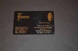 Mini Calendrier 1990 FLEURUS Carte Plastifiée VICHY - Calendriers