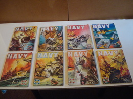 """Comics De Poche Série """"Navy"""", Lot De 8 N° De 1966 - Books, Magazines, Comics"""