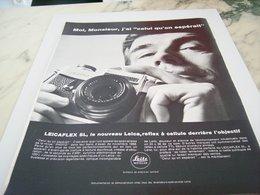 ANCIENNE PUBLICITE MOI J AI UN LEICA DE LEITZ 1969 - Photographie