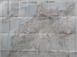 Carte RoutièreN° 142, Taride Du MAROC, Format 80 X 93, état Médiocre Car Plis Fatigués Voir Scan - Cartes Routières