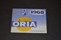 Mini Calendrier 1968 Bijoux ORIA - Petit Format : 1961-70