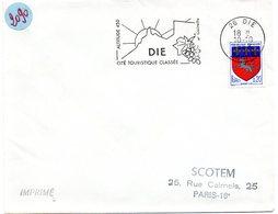 DROME - Dépt N° 26 = DIE 1968 = Flamme Codée SUPERBE = SECAP Illustrée D'une GRAPPE De RAISIN 'clairette' - Marcophilie (Lettres)