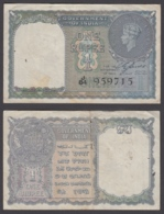 India 1 Rupee 1940 (VF) Condition Banknote KGVI KM #25a W/Holes - India