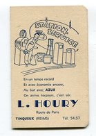 Calendrier 1955   Station Service  HOURY à Tinqueux + Immatriculations Départements Format 65*102 Mm  A    VOIR  !!! - Calendriers