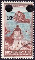 NEW ZEALAND 1967 10c On 1/- Life Insurance SGL55 Used - New Zealand