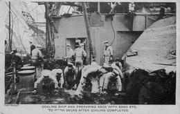 COALING SHIP - POSTED SPRING LODGE, FAWLEY 1910 #89616 - Warships