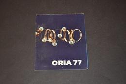 Mini Calendrier 1977 Bijoux ORIA - Calendriers