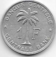 Belgium Congo 1 Franc  1958   Km 4   Vf+ - 1951-1960: Baudouin I