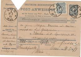 1881, Postanweisung Mit Zusatzfrankatur, Bedarf  , #9235 - Deutschland