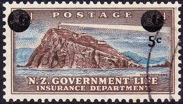 NEW ZEALAND 1967 5c On 6d Life Insurance SGL54 Used - New Zealand