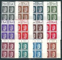 A. Hitler 1-80 Pfennig + 1 Mark ** Ex MiNr. 781-798 + 799 Oberrand Bogenecken  (0250) - Deutschland