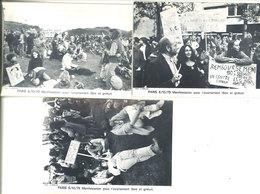 PARIS - 3 CP - 6/10/79 -Manifestation Pour L' Avortement Libre Et Gratuit . Tirage Limité (111869) - Non Classés