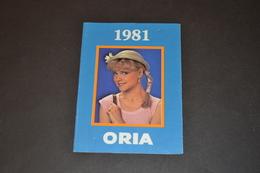 Mini Calendrier 1981 Bijoux ORIA Bijouterie BOBIN - Calendriers