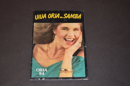 Mini Calendrier 1984 Bijoux ORIA + Jeux Concours Une SAMBA A Gagner - Calendriers
