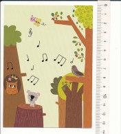 Bon-pont Comptine Dans La Forêt Lointaine, Coucou Hibou / Oiseau Coucou Owl Bird Ours Bear Humor   // CP 01/201 - Vieux Papiers