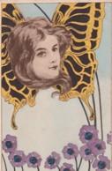 FEMME  PAPILLON              PRECURSEUR - Papillons