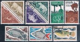 Chad 1961 / 70  -  Yvert 67 + 68 + 216 / 218 + Taxas 23 / 24 + 29 / 30  ( Usados ) - Chad (1960-...)