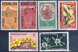 Chad 1961 / 70  -  Yvert 69 + 70 + 88 + 107 + 179 + 181  ( Usados ) - Chad (1960-...)
