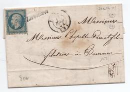 1854 - LETTRE Avec CURSIVE De LES OLLIERES SUR EYRIEUX (ARDECHE) & PC 2320 - Marcophilie (Lettres)