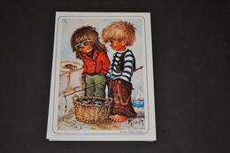 Mini Calendrier 1989 Dessin Michel Thomas 2 Garçons Et Le Crabe - Calendriers