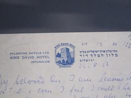 ISRAEL PALESTINE HOTEL KING DAVID 1956 JERUSALEM  PAPER STATIONERY LETTER LOGO DESIGN ORIGINAL PHOTO - Manoscritti