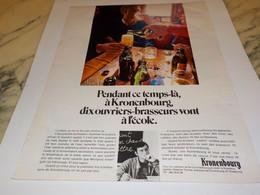 ANCIENNE PUBLICITE DIX OUVRIERS  BIERE KRONENBOURG 1969 - Alcools