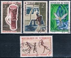 Chad 1961 / 70  -  Yvert 116 + 161 + 228 + 249  ( Usados )  ( Usados ) - Chad (1960-...)