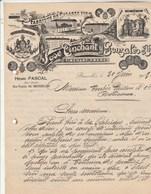Belgique Lettre Illustrée 20/6/1909 José TINCHANT Y GONZALES Fabrique De Cigares Fins BRUXELLES - Belgique