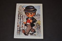 Mini Calendrier 1989 Dessin Michel Thomas En Costume - Calendriers
