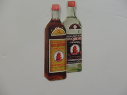 "Pub 16cm/7,5cm Grand Rhum Blanc ""Duquesne"" De La Martinique. - Alcolici"