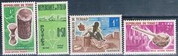 Chad 1961 / 70  -  Yvert 66 + 114 + 115 + 227  ( ** ) - Chad (1960-...)