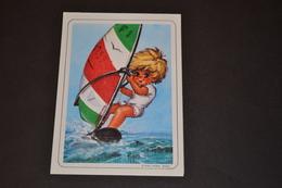 Mini Calendrier 1983 Dessin Michel Thomas Planche A Voile - Calendriers