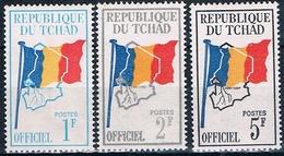 Chad 1972  -  Yvert 1 / 3  Servicio   ( ** ) - Chad (1960-...)