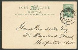 Transvaal 1908. JOHANNESBURG 9 On Local Used Postcard. - Südafrika (...-1961)