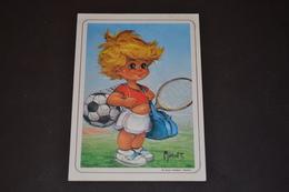 Mini Calendrier 1986 Dessin Michel Thomas Sportif - Calendriers