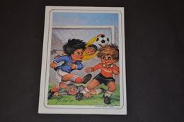 Mini Calendrier 1986 Dessin Michel Thomas Match De Foot - Calendriers