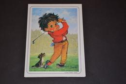 Mini Calendrier 1986 Dessin Michel Thomas Le Golf - Calendriers