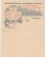 Belgique Facture Illustrée Neuve H TRENTELIVRES Fournitures Pour Industrie & Automobile BRUXELLES - 1900 – 1949
