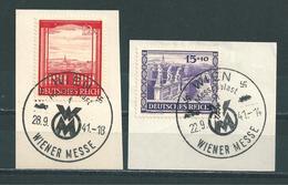 MiNr. 804-805 Briefstücke  (01) - Gebraucht