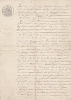 VP 1 FEUILLE - 1852 - MENUISIER A PARIS - J GUZOS ECLUSIER AU CANAL DE BOURGOGNE N° 16 A CHARIGNY - MARIGNY - Manuscrits