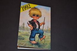 Mini Calendrier 1992  Dessin Michel Thomas Aux Champs - Calendriers