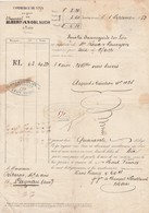 VP 1 FEUILLE - 1852 - LETTRE DE VOITURE - COMMERCE DE VINS - TAIN DANS LA DROME - Manuscrits