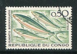 CONGO- Y&T N°142- Oblitéré (poissons) - Congo - Brazzaville