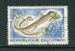 CONGO- Y&T N°144- Oblitéré (poissons) - Oblitérés