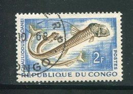 CONGO- Y&T N°144- Oblitéré (poissons) - Congo - Brazzaville